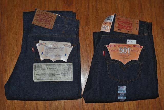 新たに普段使用する候補のジーンズ:80年代米国製501、現行USモデル501STFの画像