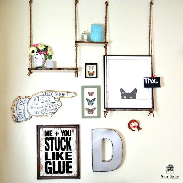 Bark Edge Board Haning Shelves by Dana Tatar for Walnut Hollow