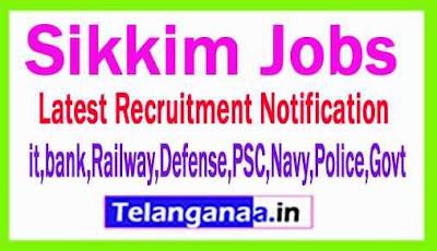Latest Sikkim Government Job Notifications