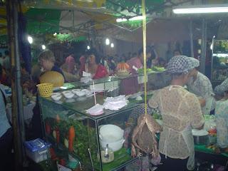 Où manger à Ben Thanh Market. Ho Chi Minh. Viêt-Nam