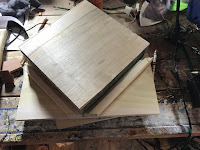 Using the maple block as a template for the jig