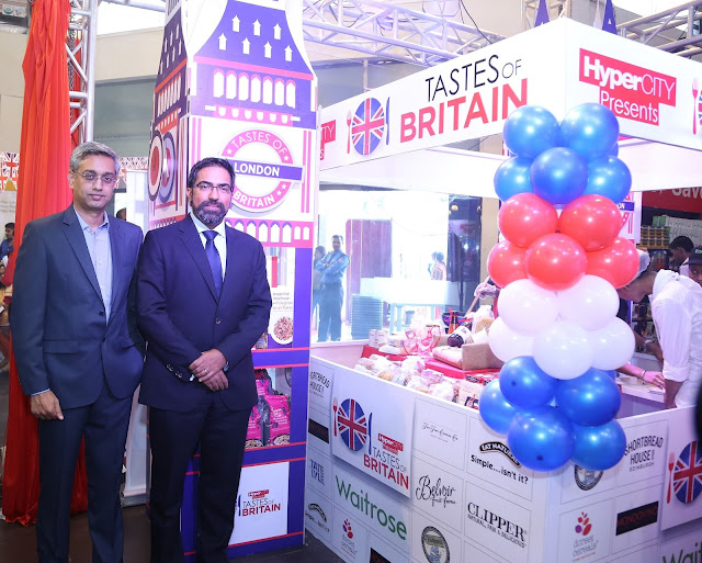 Mr. Ramesh Menon, Chief Executive Officer, HyperCITY and Mr. Kumar Iyer, British Deputy High Commissioner to Mumbai unveil Tastes of Britain