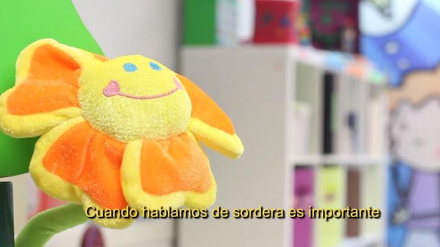 Fragmento del vídeo de atención temprana y educación de niños sordos realizado por José Manuel Torres Cañamero
