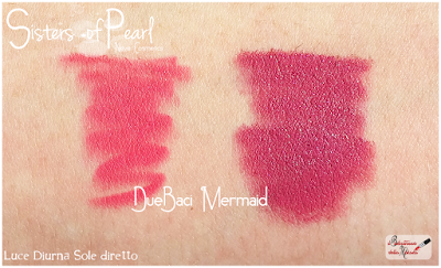 Mermaid Review Due Baci swatches Sisters Of Pearl  Neve Cosmetics
