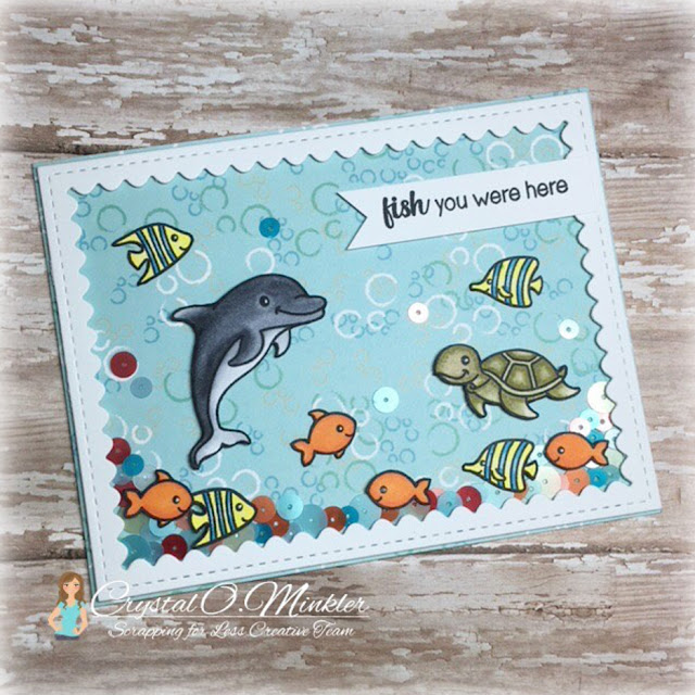 Sunny Studio Stamps: Oceans Of Joy Customer Card Share by Crystal Minkler