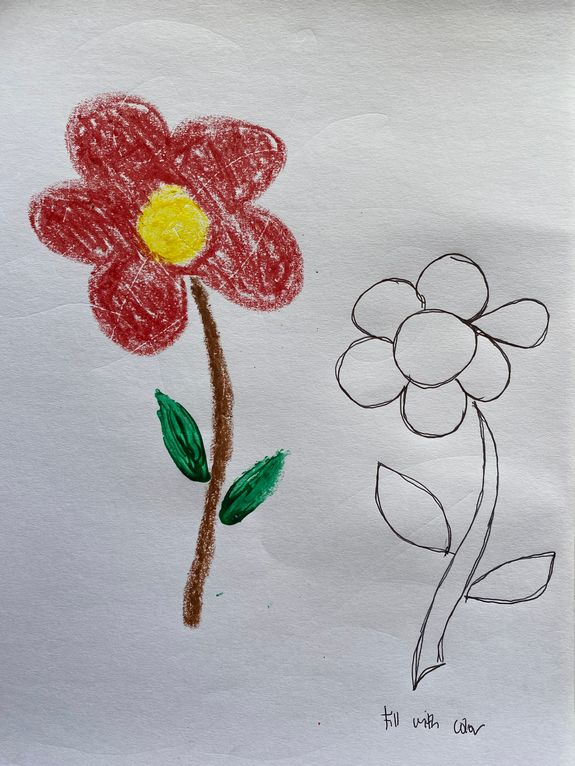 Color the flower free printable