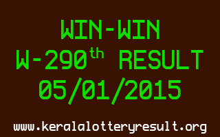 WIN-WIN Lottery W-290 Result 05-01-2015