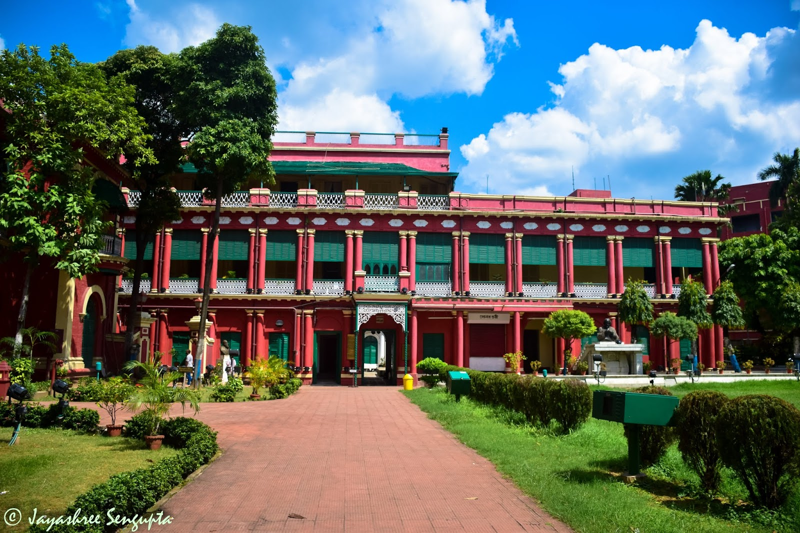 The frontal view of Thakurbari