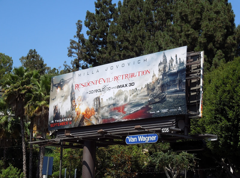 Resident Evil 5 movie billboard