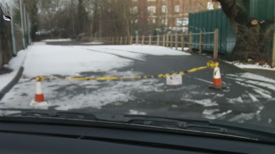 Driving test cancelled in Mill Hill by Snow