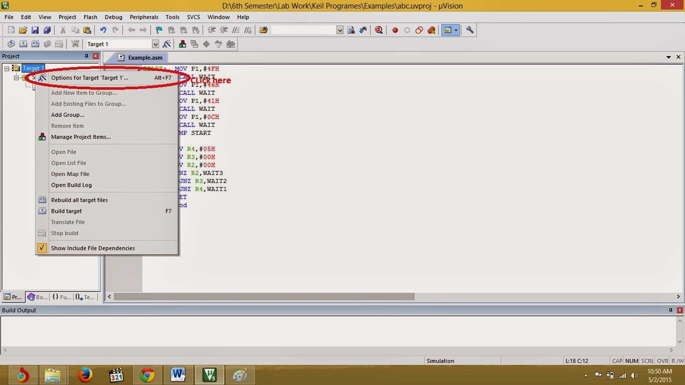 HOW TO WRITE PROGRAM AND CREATE HEX FILE IN KEIL