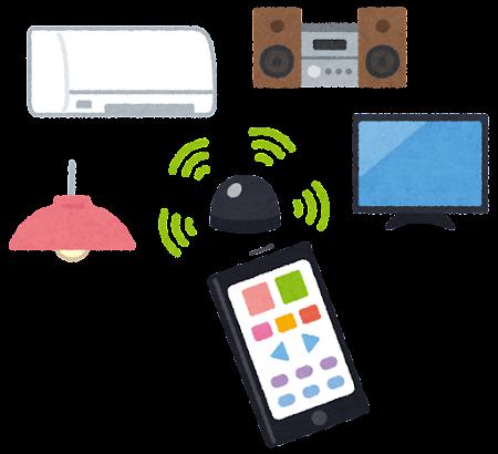 学習リモコンのイラスト(スマートフォン)