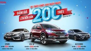 Honda giảm giá sốc cho CRV, Civic, City
