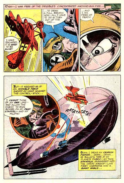 Star Spangled War v1 #140 enemy ace dc comic book page art by Joe Kubert