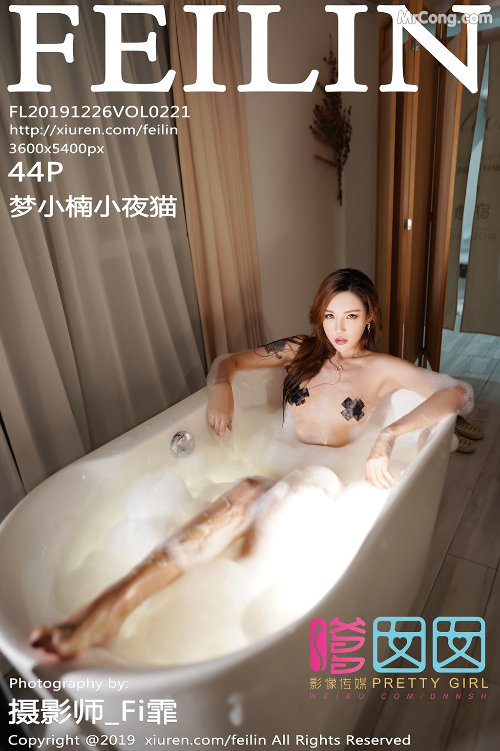 FEILIN Vol. 2121: 梦 小楠 小 夜 猫 (45 pictures)