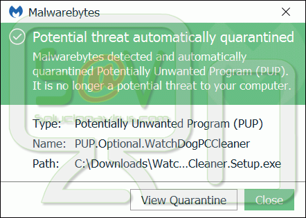 PUP.Optional.WatchDogPCCleaner
