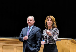 Rep Jeff Roy, Lt Gov Karyn Polito at FHS on Monday to address teen sexting