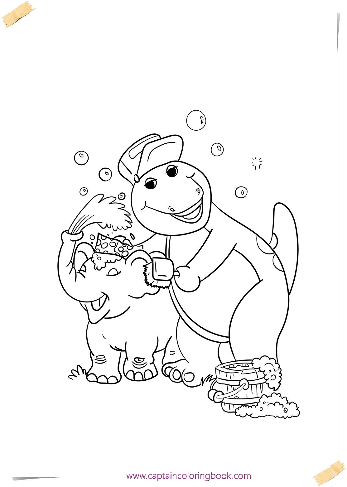 Barney Coloring Pages coloring page printable Coloring Page