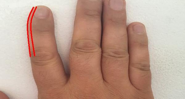iata ce reprezinta daca degetul aratator este curbat in interior