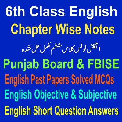 6th Class Students English Applications Notes - Easy MCQs