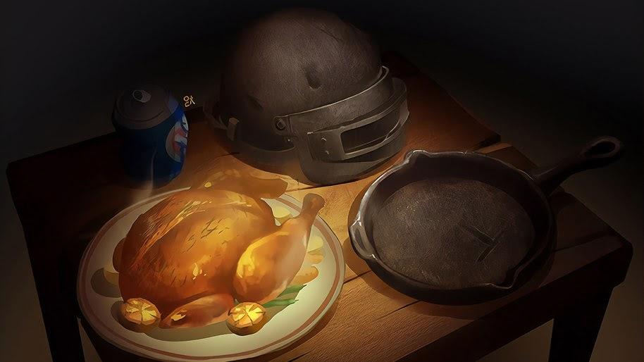 Pubg Chicken Dinner Pan Helmet 4k Wallpaper 149