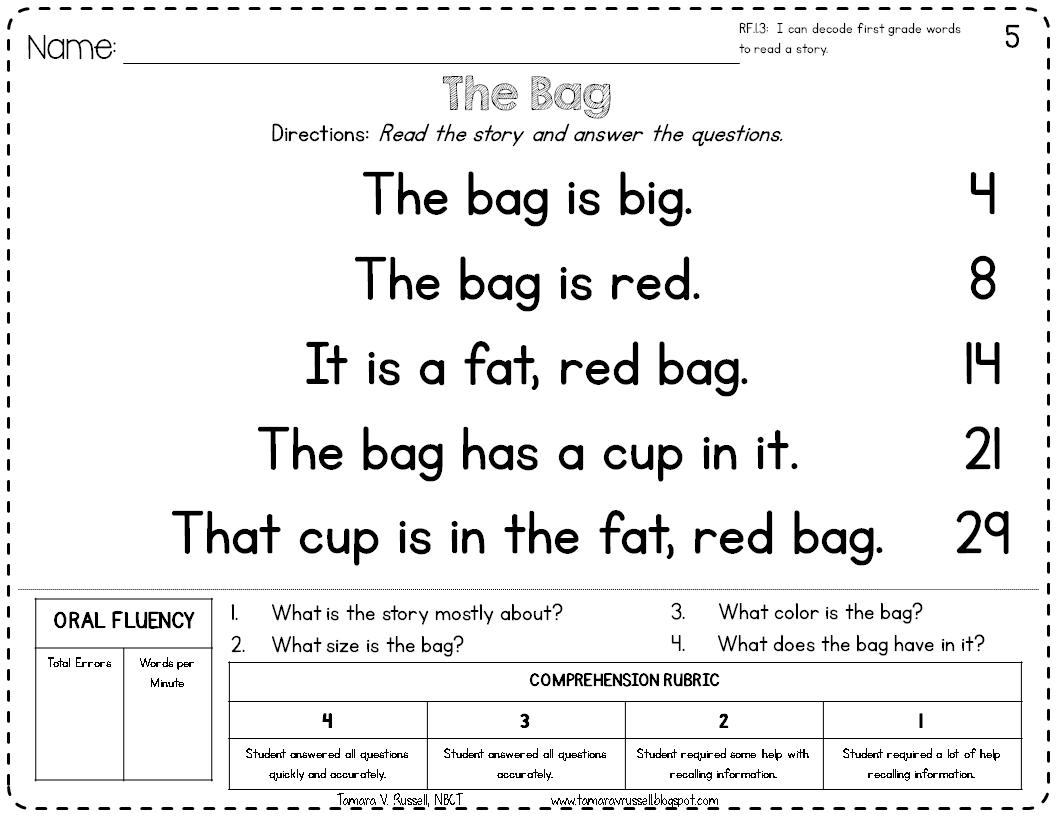 hight resolution of Introducing: Kindergarten Fluency - Mrs. Russell's Room