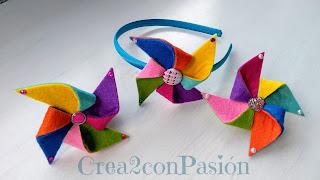 Tres-complementos-para-el-cabello-con-molinillos-de-viento-de-fieltro-Crea2-con-Pasion