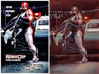 RoboCop Metallic Movie Poster Screen Print by Mike Bryan x Justin Ishmael x Bottleneck Gallery
