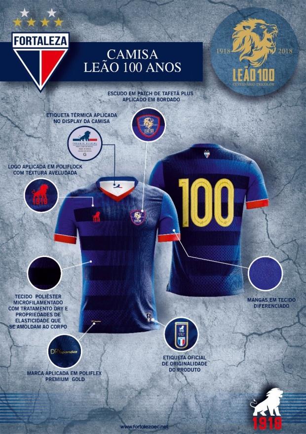 Leão 1918 lança camisa especial para o Fortaleza - Show de Camisas 10fb2a7a30900