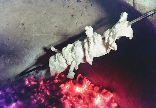 Cooking chicken kalmi kebab in Tandoor food Recipe Dinner ideas