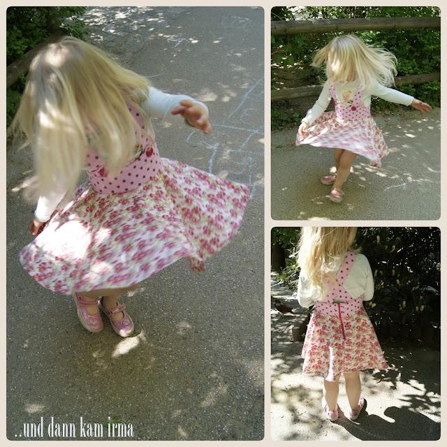 Schnittmuster Simplicity 1075 A, Sommerkleid, Geburtstagsgeschenk, Mädchen, Blumenprint
