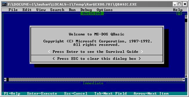 Download Qbasic rar + penjelasan singkat | Mr Dark Wizard
