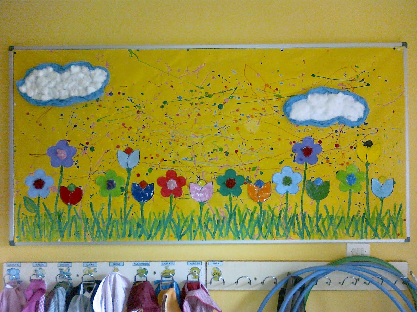 13 peri dicos murales de marzo y primavera educaci n for Como decorar un mural