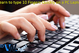 Learn to Type 10 Fingers Quickly on a PC Laptop