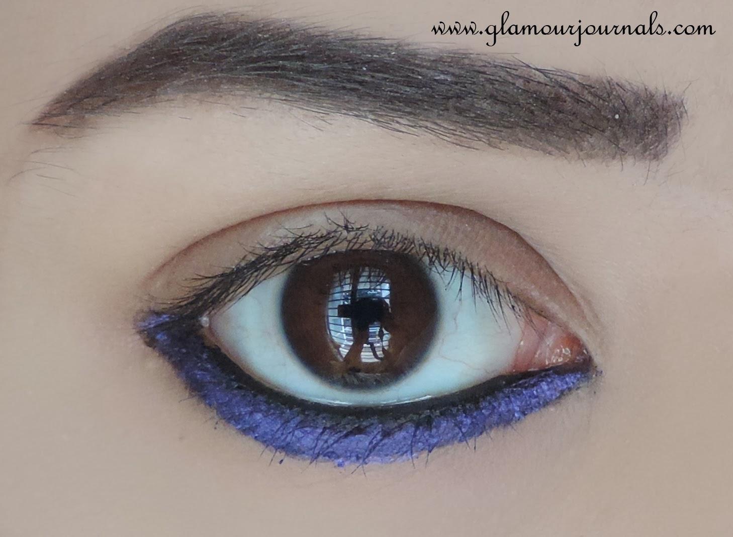 Easy Colored Eyeliner Tutorial   Jessica Biel makeup ...