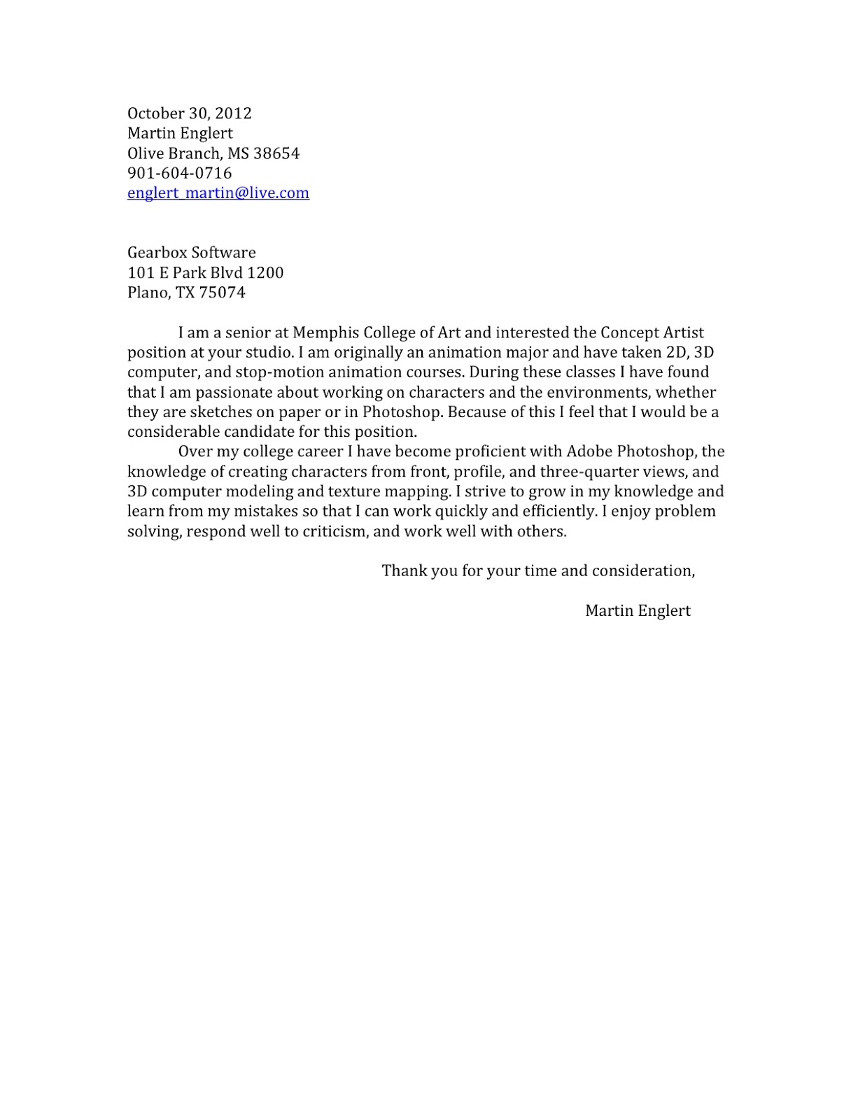 Sample Cover Letter For Gamestop Certified Mechanical