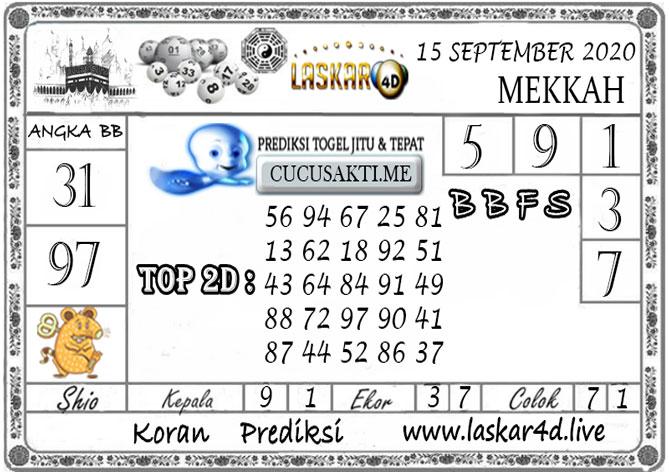 Prediksi Togel MEKKAH LASKAR4D 15 SEPTEMBER 2020