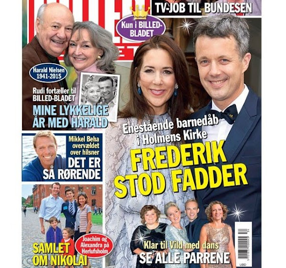Crown Prince Frederik and Crown Princess Mary attended the baptism of Countess Ingeborg, the daughter of Count Bendt Wedell and his wife Pernille