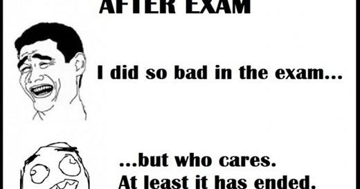 Jordan's Diary: The feeling after an exam