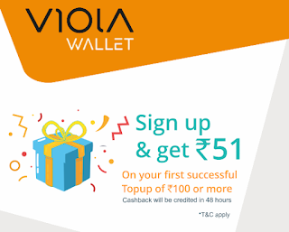 Earn Rs.51 On per Referral | OfferLoot | Viola Wallet Offer