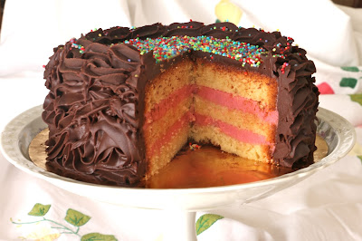 Layer Cake de Vainilla, Frambuesa y Chocolate