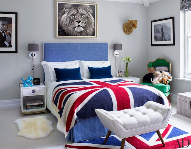 Arriba el azul dormitorio adolescente chicanddeco