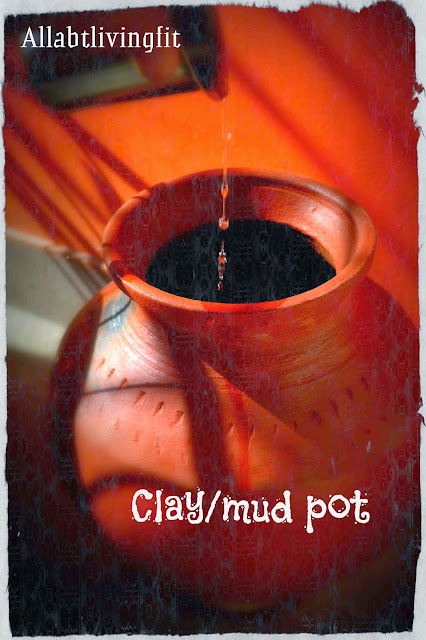 Storing water in (mud pot/clay pot/earthen pot/Man paanai/Mudka)
