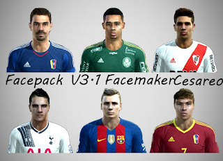 New Facepack V3.1 Pes 2013 By Facemaker Cesareo