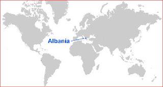 Gambar Peta letak Albania
