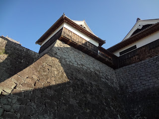 Ishigaki and oar of Kumamoto castle before the Kumamoto earthquake