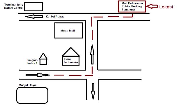 map gedung Sumatera batam centre