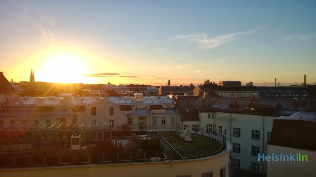 sunrise over Helsinki