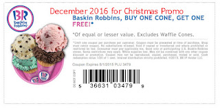 Baskin Robbins coupons december 2016
