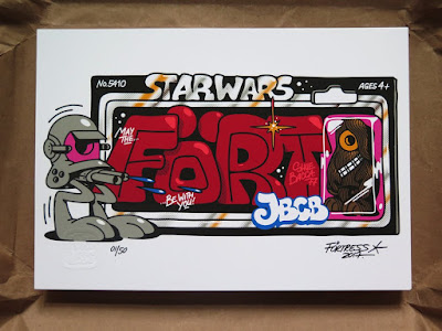 "Star Wars ""May The Fort Be With You"" Screen Print by Flying Fortress"